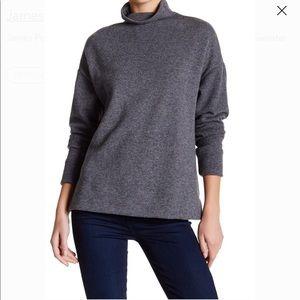 NWOT James Perse Turtleneck Sweater Sz 3 Gray